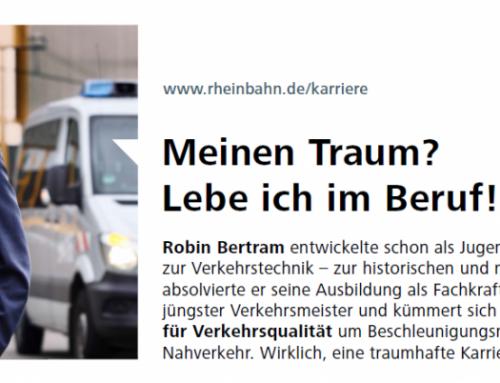 Bei der Rheinbahn ist die Arbeit mehr als ein Beruf!