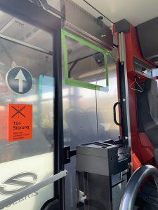 Folie im Bus