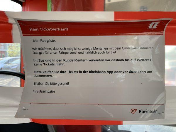 Kein Ticketverkauf