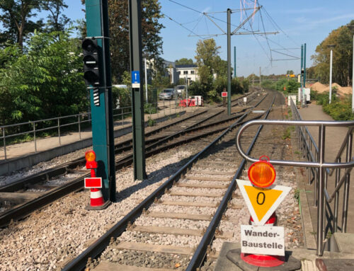Bügel zählen – warum das? Eingleisigkeit auf der Stadtbahnlinie U79