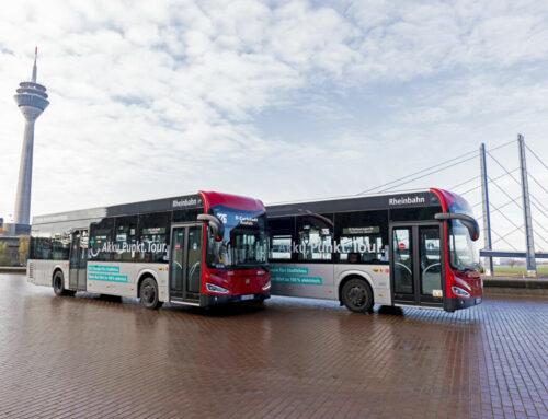Saubere Luft und mehr Lebensqualität für Düsseldorf: Rheinbahn nimmt neue E-Busse in Betrieb